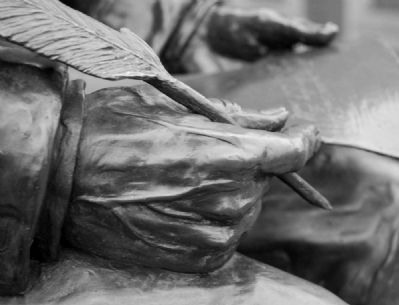 Poinsett Statue -<br>Hand Detail image. Click for full size.