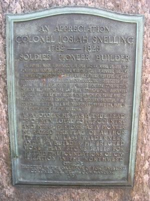 Colonel Josiah Snelling Marker Photo, Click for full size