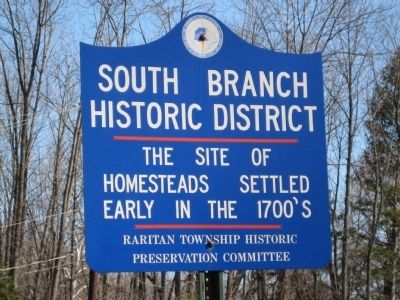 South Branch Historic District Marker Photo, Click for full size
