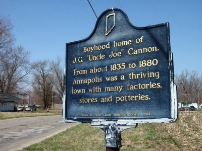 "Boyhood home of J. G. ""Uncle Joe"" Cannon. Marker image. Click for full size."
