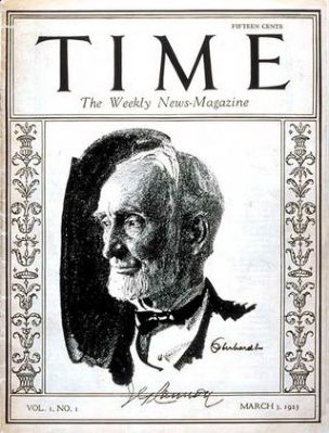 <i>Time Magazine</i>, Volume 1, Number 1 - - March 3, 1923 image. Click for full size.