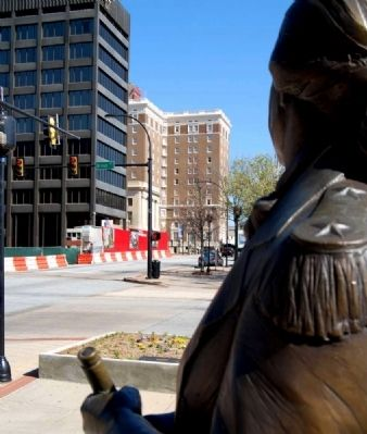 Nathanael Greene Overlooking<br>Corner of Main and Broad Photo, Click for full size