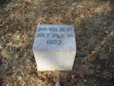 2nd Wisconsin Regiment Position Marker image. Click for full size.