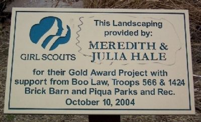 Girl Scout Landscaping Marker image. Click for full size.