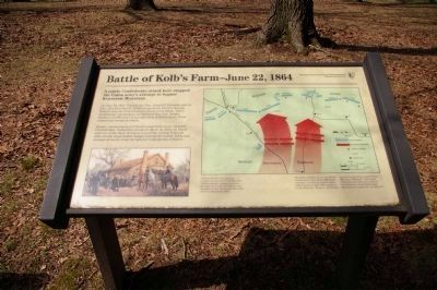 National Park Service sign describing the Battle of Kolb's Farm Photo, Click for full size
