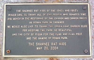Shawnee Rat Kids Marker Photo, Click for full size