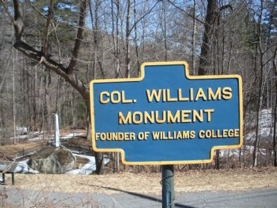 Col. Williams Monument Founder of Williams College Marker image. Click for full size.
