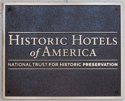 Historic Hotels of America Plaque Photo, Click for full size