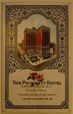 Poinsett Hotel<br>Historical Poster<br>Located Near South Entrance Photo, Click for full size