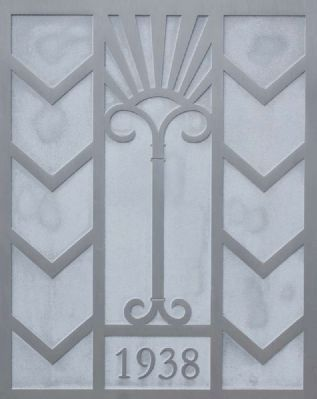 Art Deco Cornerstone Dated 1938 image. Click for full size.