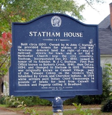 Statham House Marker image. Click for full size.