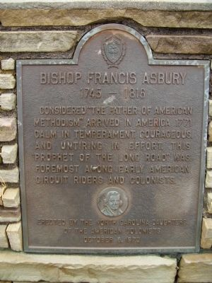 Bishop Francis Asbury Marker Photo, Click for full size