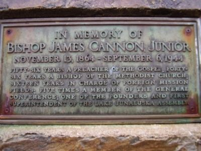 Bishop James Cannon Junior Photo, Click for full size