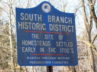 South Branch Historic District Marker image. Click for full size.