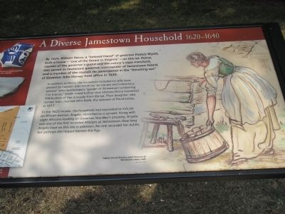 A Diverse Jamestown Household Marker Photo, Click for full size