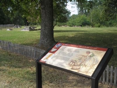 Marker in Historic Jamestowne Photo, Click for full size