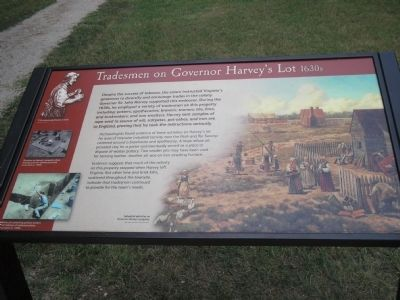 Tradesmen on Governor Harvey's Lot Marker image. Click for full size.