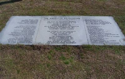 """This is Memorial To The American Revolution ""Marker and Sponsers image. Click for full size."
