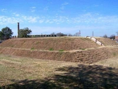 The Park's replica of the Spring Hill Redoubt image. Click for full size.