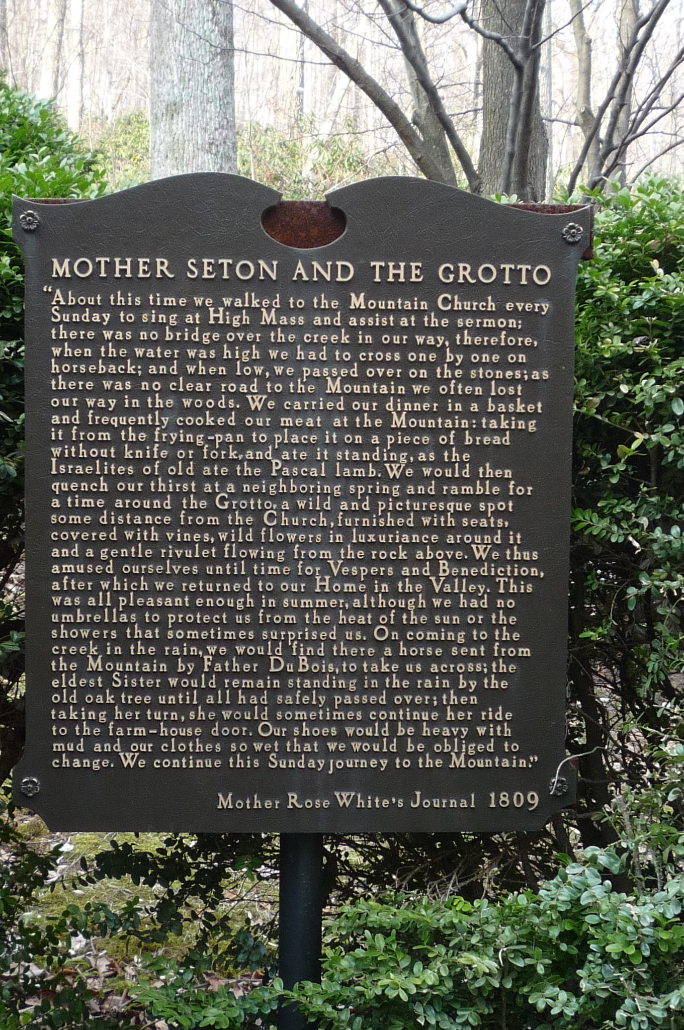 Mother Seton and the Grotto