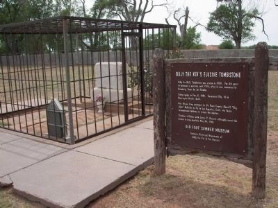 Billy the Kid's grave. Photo, Click for full size