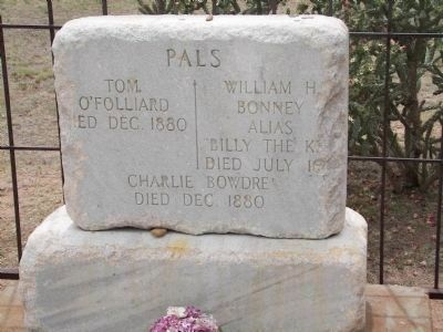 Billy the Kid's headstone. Photo, Click for full size