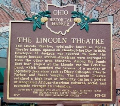 The Lincoln Theatre Marker image. Click for full size.