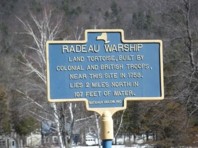 Radeau Warship Marker Photo, Click for full size