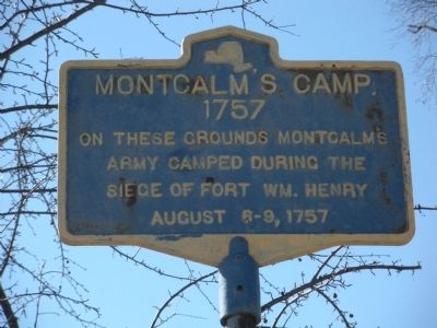 Montcalm's Camp Marker image. Click for full size.