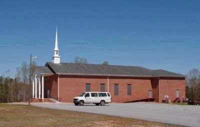 The current Springfield Baptist Church, built in 1994 image. Click for full size.