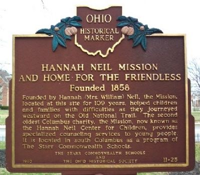 Hannah Neil Mission And Home For The Friendless Marker image. Click for full size.