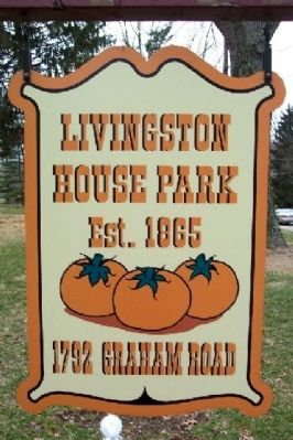 Livingston House Park Sign Photo, Click for full size