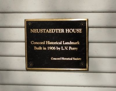 Neustaedter House Marker Photo, Click for full size