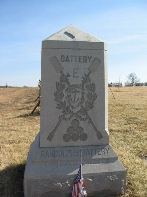 Battery E, 1st Rhode Island Artillery Monument image. Click for full size.