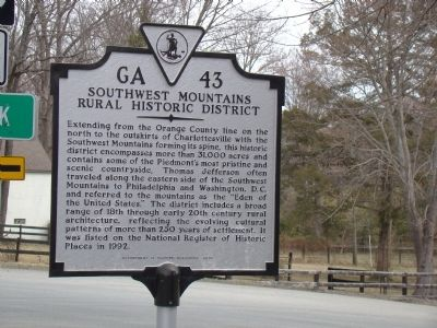 Southwest Mountains Rural Historic District Marker Photo, Click for full size
