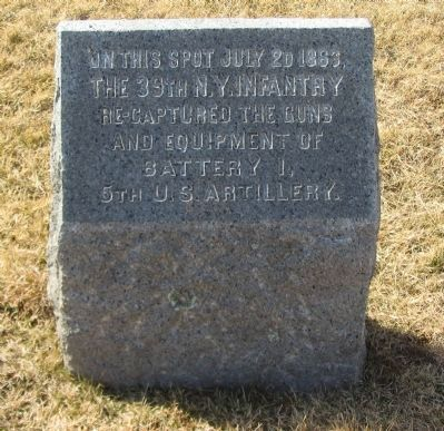 39th New York Infantry Marker image. Click for full size.