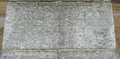 Close Up of Inscription Photo, Click for full size