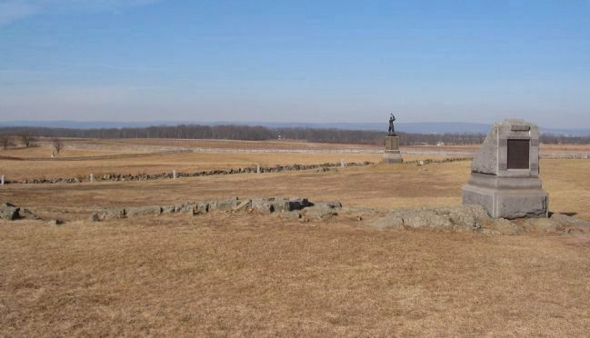 72nd Pennsylvania Counterattacks the Confederate Breech Photo, Click for full size
