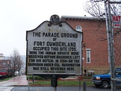 The Parade Ground of Fort Cumberland Marker image. Click for full size.