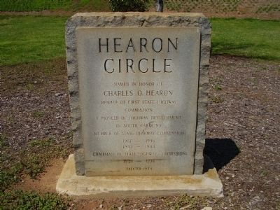 Hearon Circle Marker image. Click for full size.
