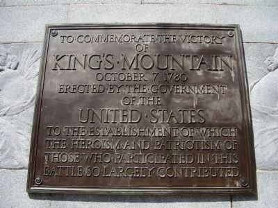 King's Mountain Marker Photo, Click for full size