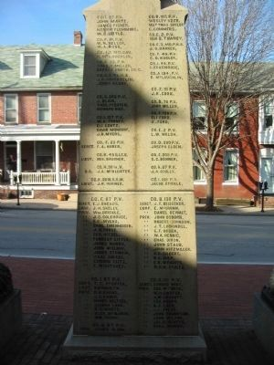 Back of Memorial image. Click for full size.