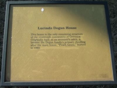 Lucinda Dogan House Marker Photo, Click for full size