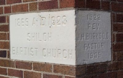 Shiloh Baptist Church Cornerstone Photo, Click for full size
