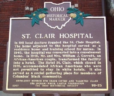 St. Clair Hospital Marker image. Click for full size.