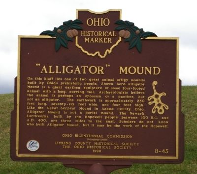 """Alligator"" Mound Marker Photo, Click for full size"