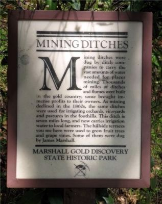 Mining Ditches Marker Photo, Click for full size