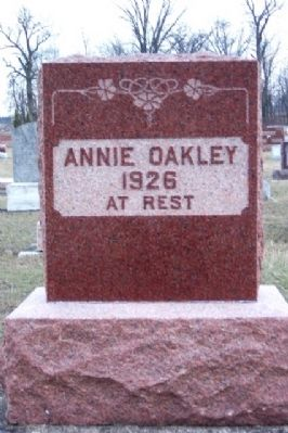 Annie Oakley Grave Marker In Brock Cemetery image. Click for full size.
