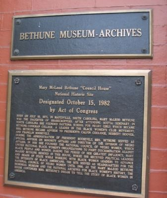 Bethune Museum-Archives Marker image. Click for full size.