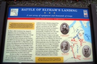 Battle of Eltham's Landing CWT Marker image. Click for full size.
